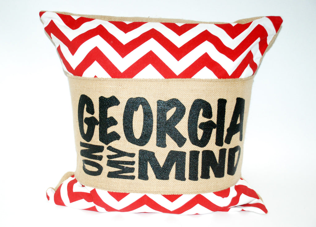 """Georgia On My Mind"" Pillow"