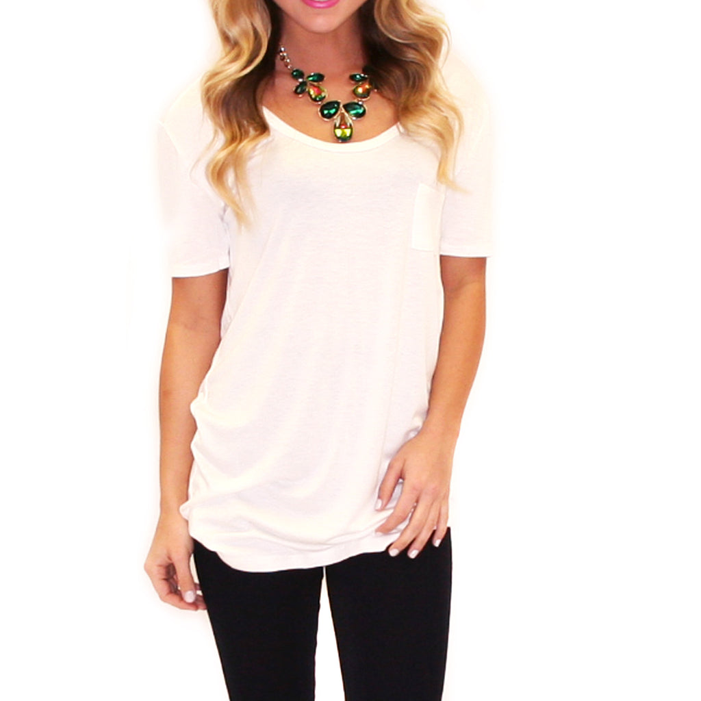 Girl Of Your Dreams Tee in Ivory