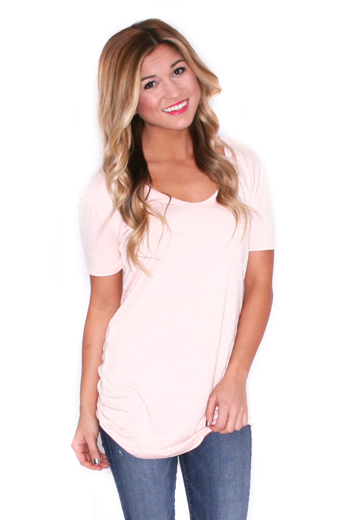 Girl Of Your Dreams Tee in Peach