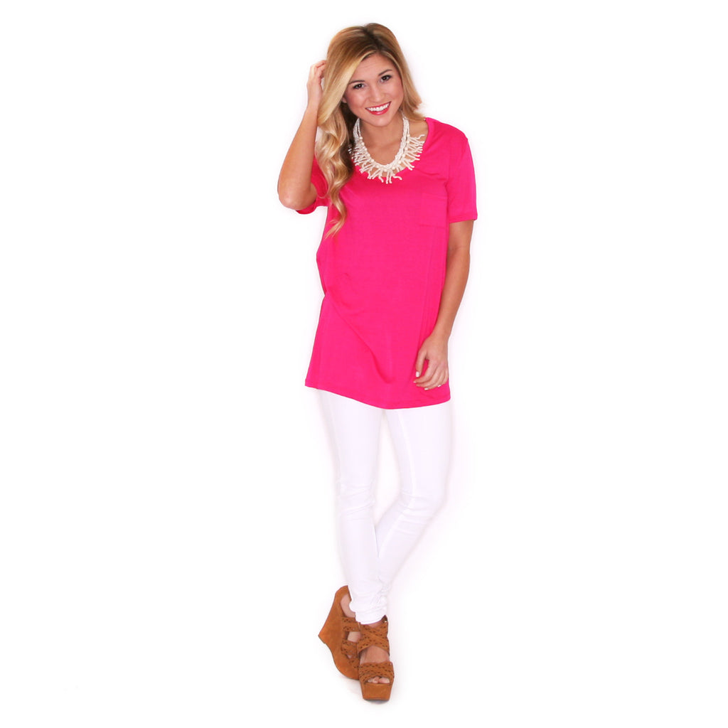 Girl Of Your Dreams Tee in Fuchsia