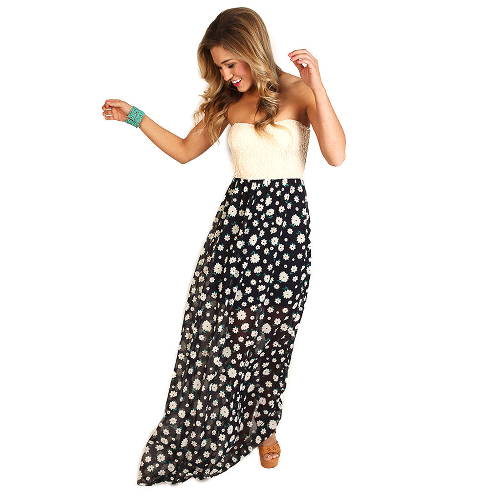 Girl Of Your Dreams Maxi in Navy