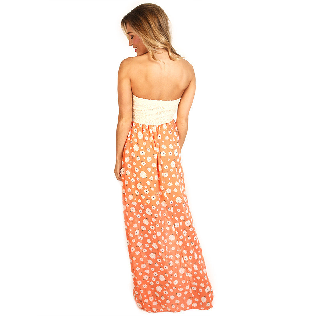 Girl Of Your Dreams Maxi in Peach