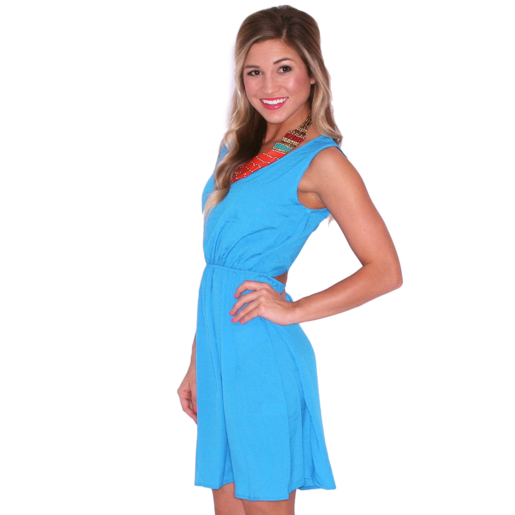 Girl's Night Glam Dress in Blue