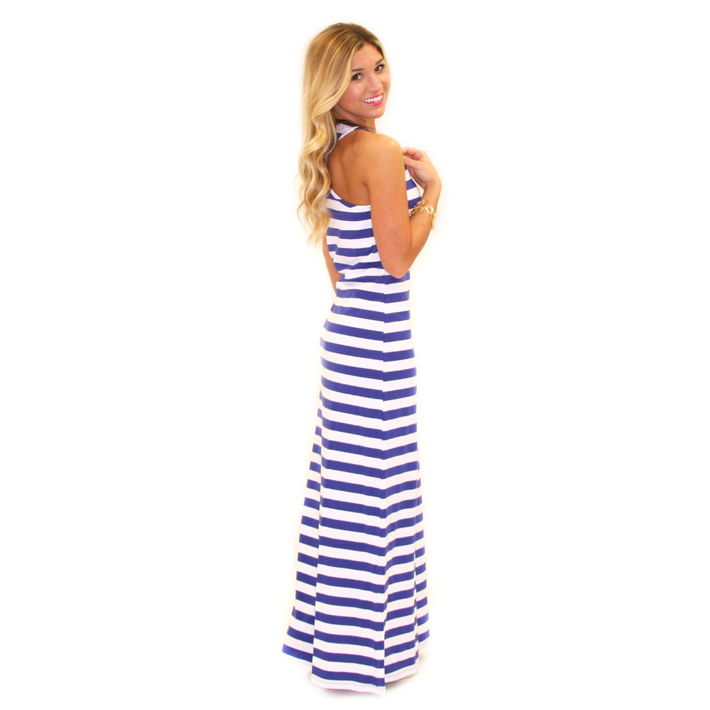 Girl Time Stripe Maxi Blue