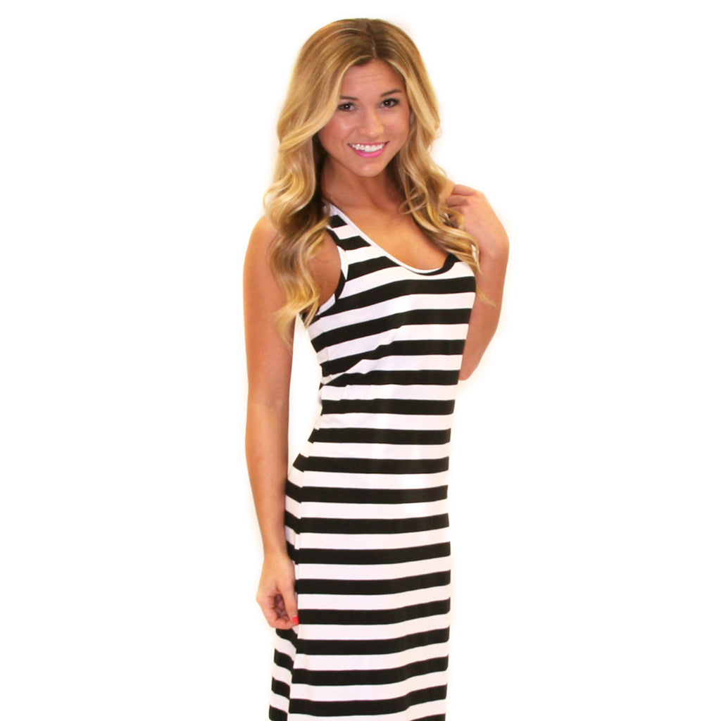 Girl Time Stripe Maxi Black