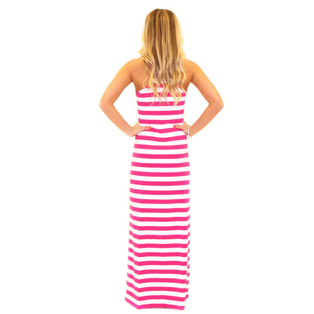 Girl Time Stripe Maxi Pink