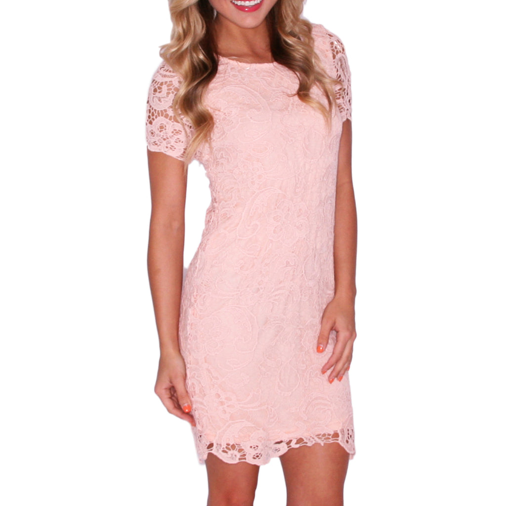 Glamour Girl Dress in Peach