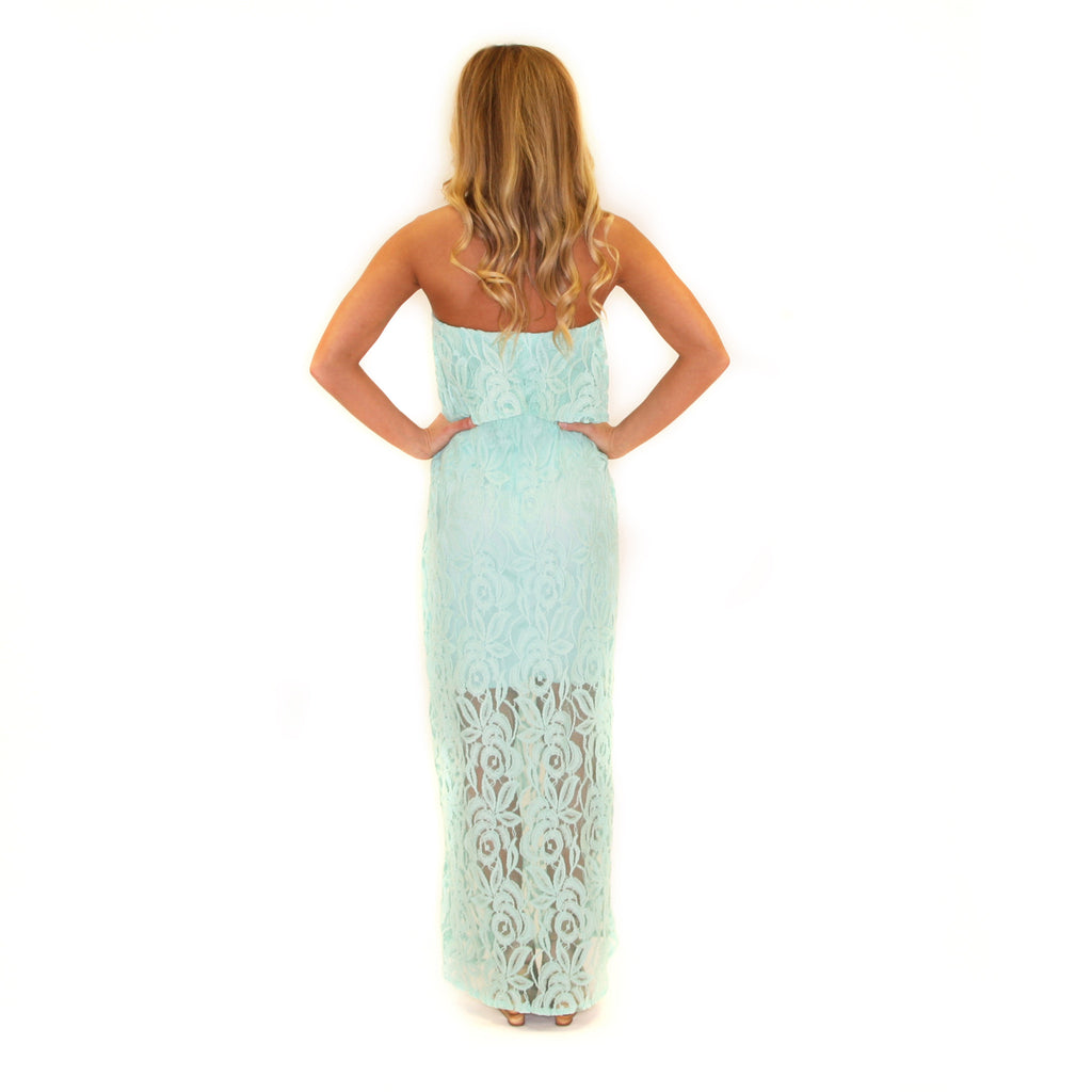 Graceful Lace Maxi in Mint