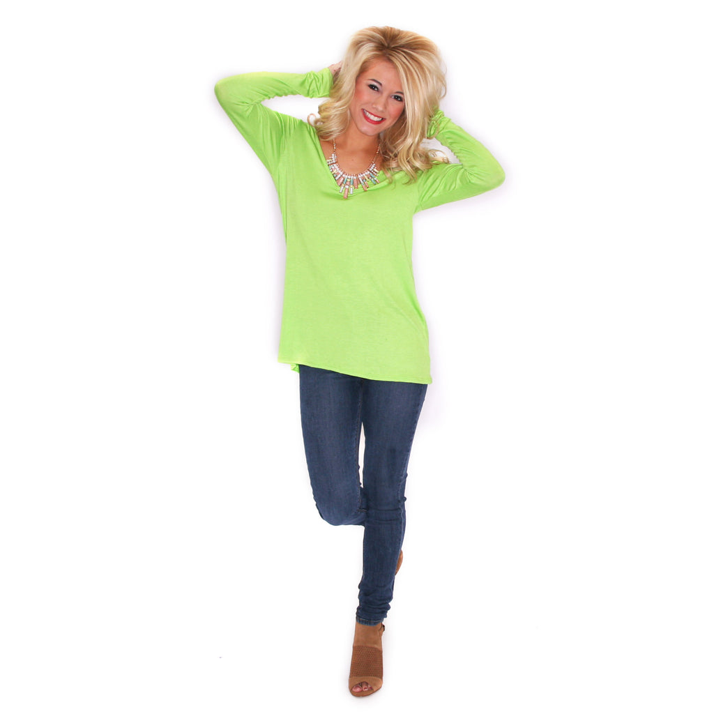 Graceful Tee in Lime