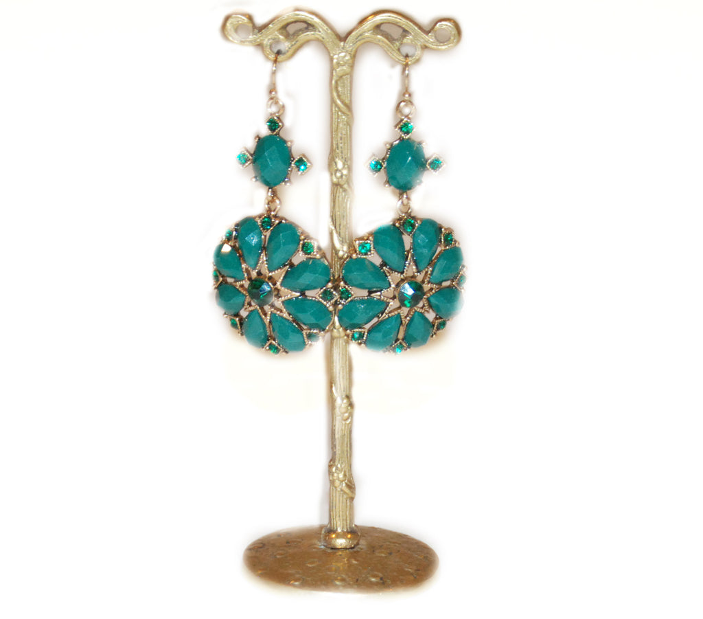 Green Goddess Drop Earring
