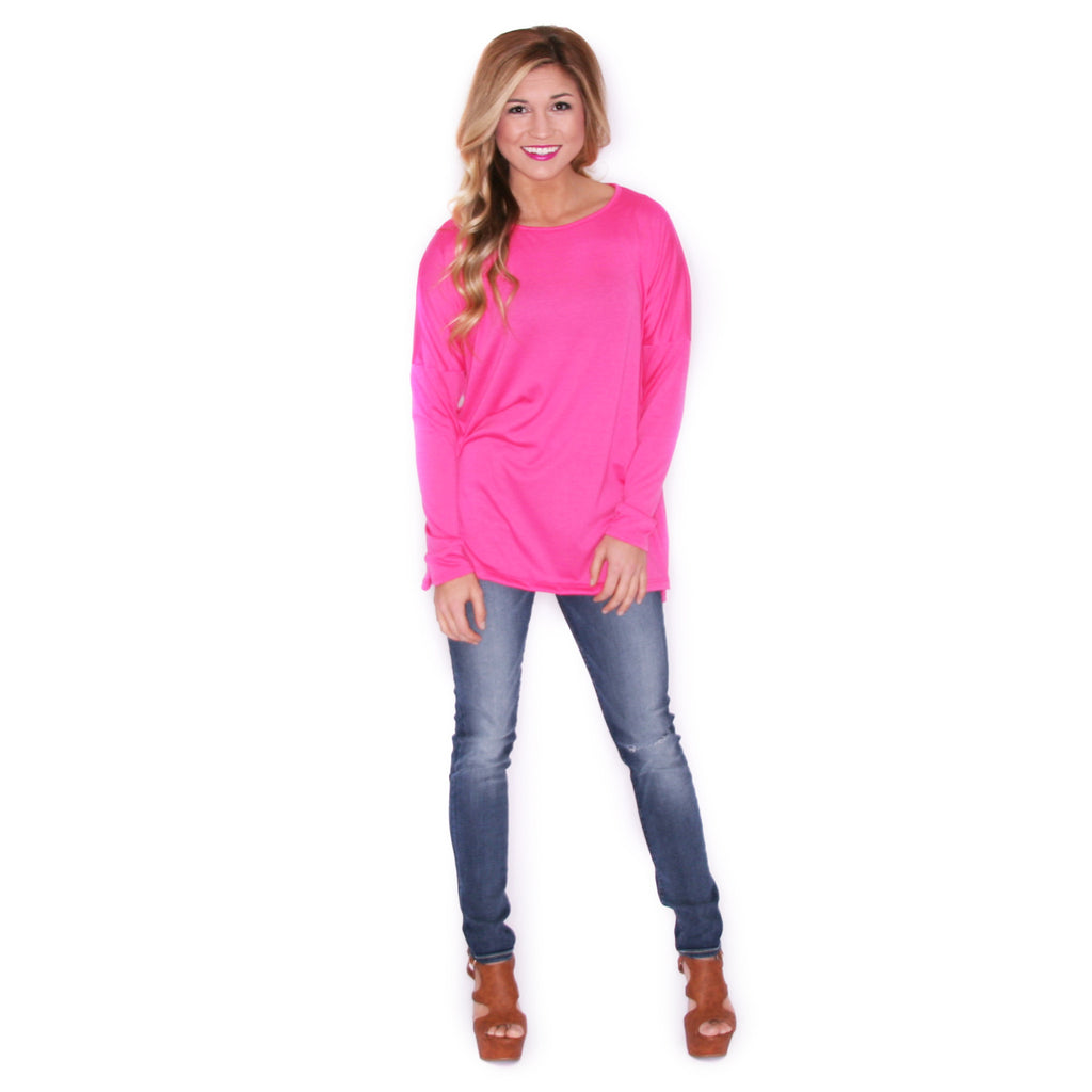 Hand In Hand Tee Fuschia