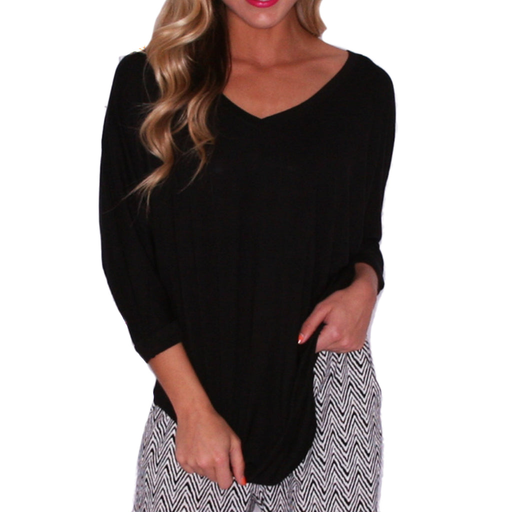 Porch Party Tunic Black