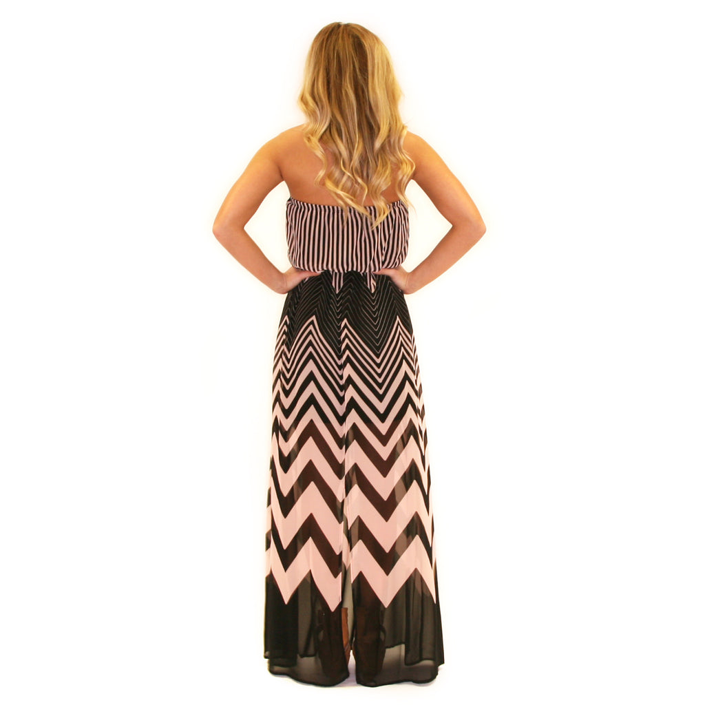 Happiest In Stripes Maxi Taupe