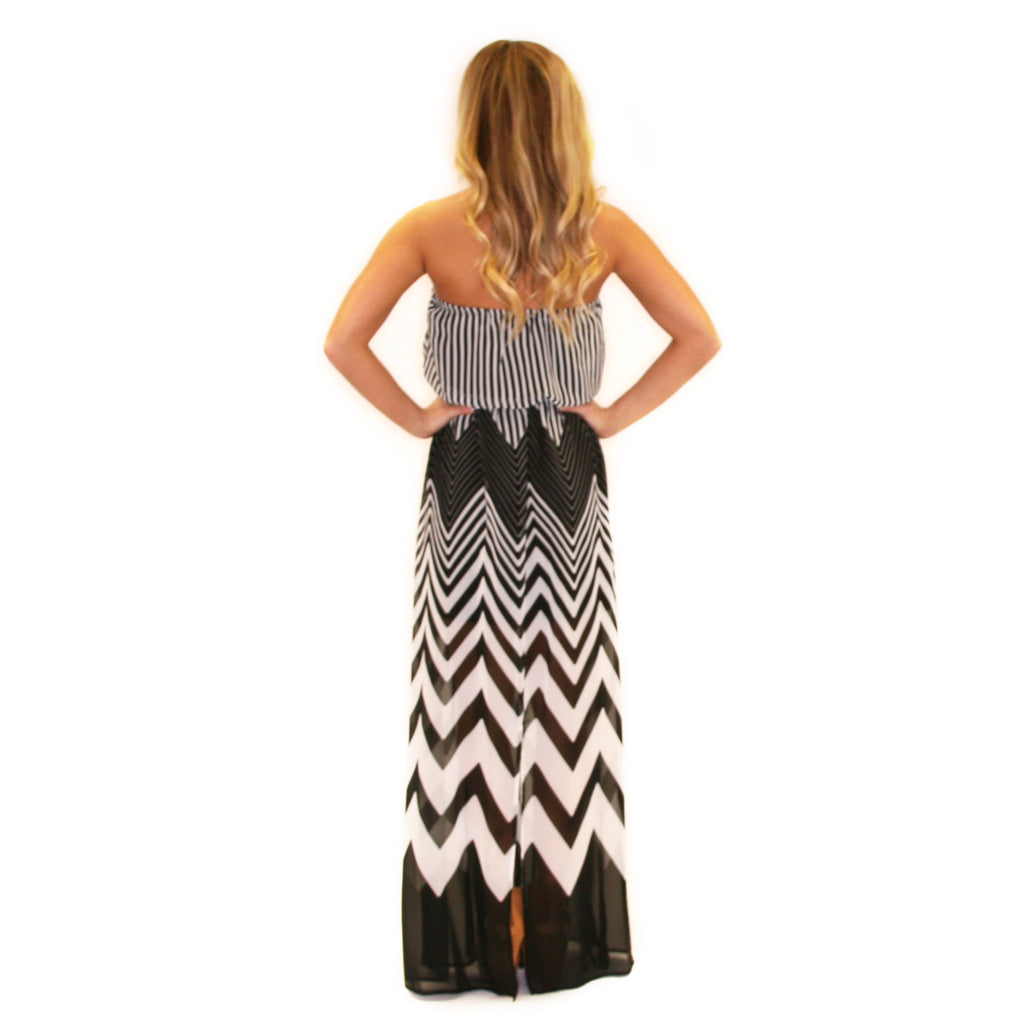 Happiest In Stripes Maxi White