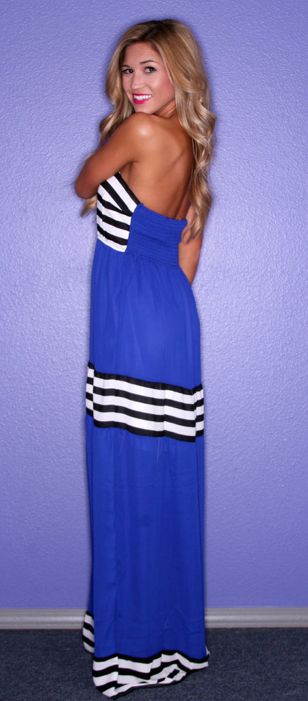 Happily Ever Striped in Blue