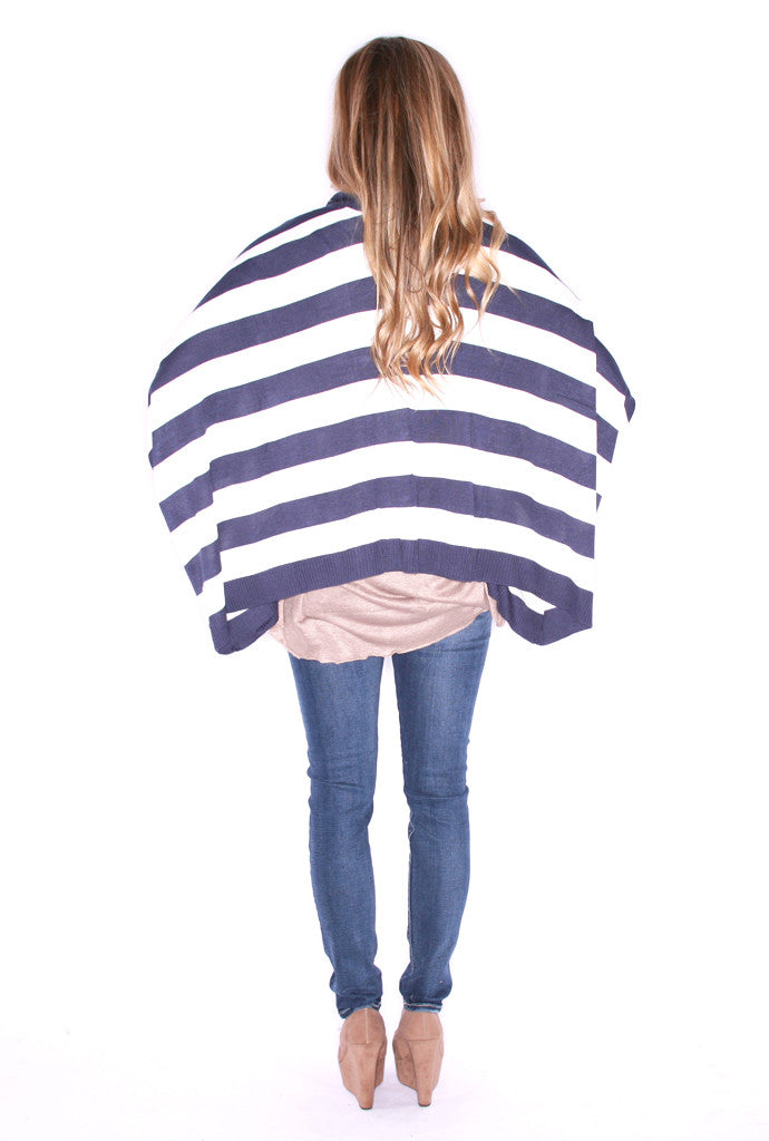 Happily Ever Striped Cardi Navy