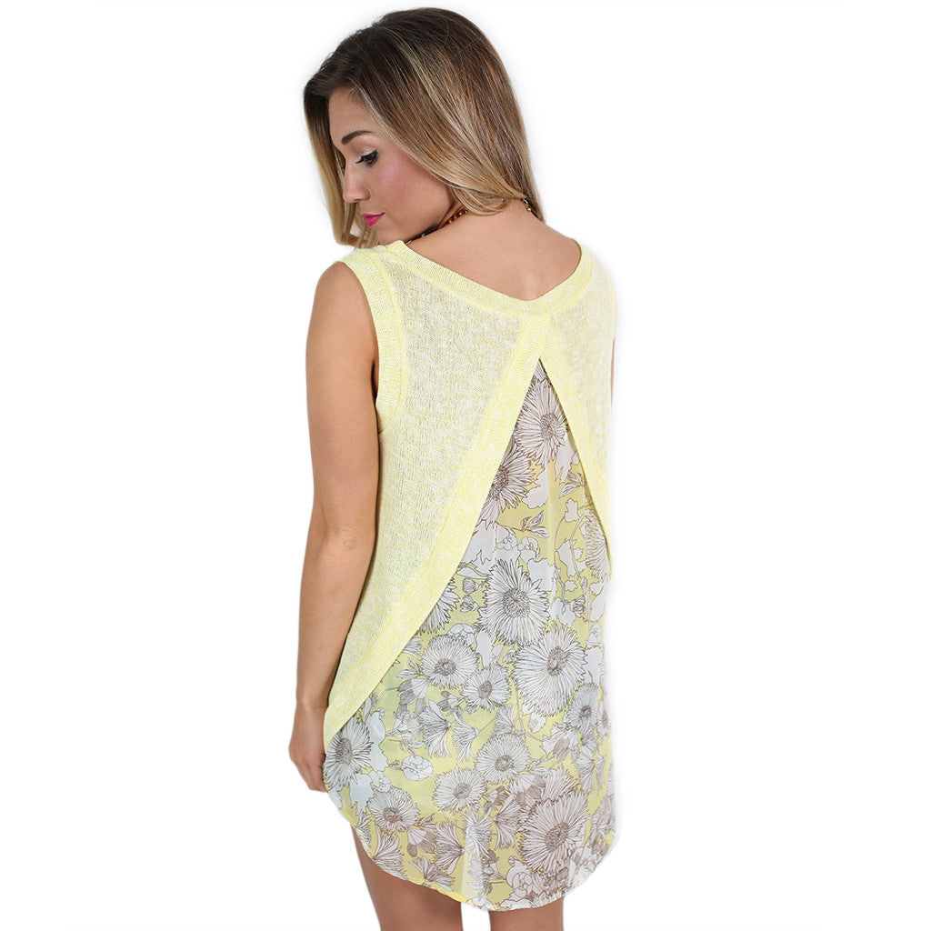 Happy Blossoms Top in Yellow