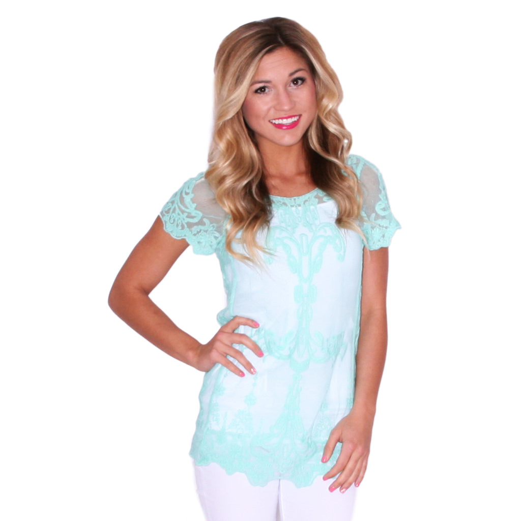 Happiest In Lace in Mint