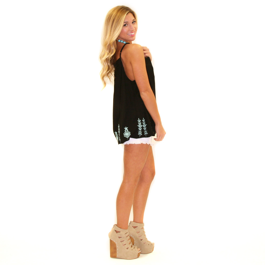 Head Over Heels Tank Black