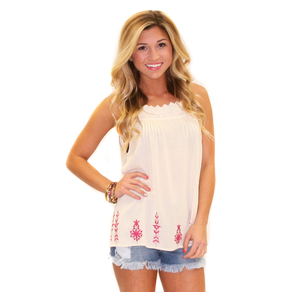 Head Over Heels Tank Cream