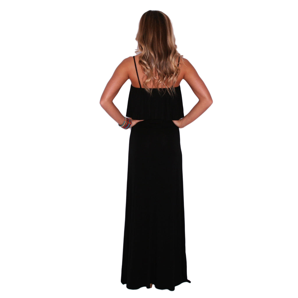 Heart Skips A Beat Maxi in Black