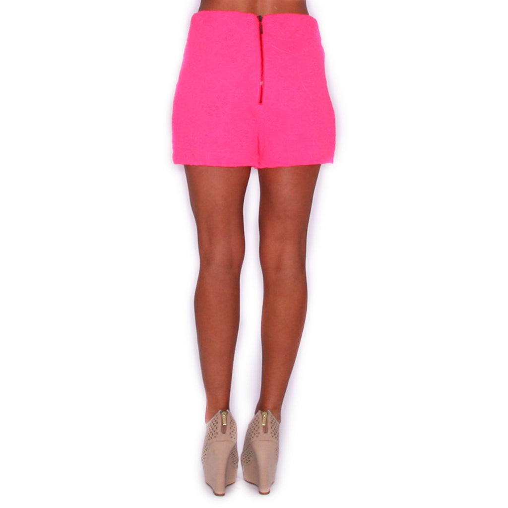 Here Comes The Sun Short in Neon Pink