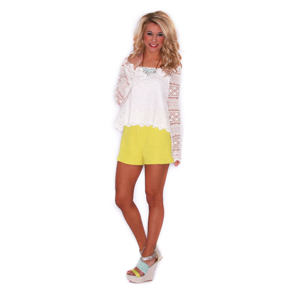 Here Comes The Sun Short in Lime