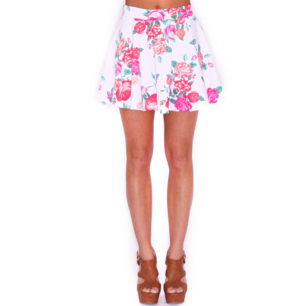 Hollywood Girl Skirt in White