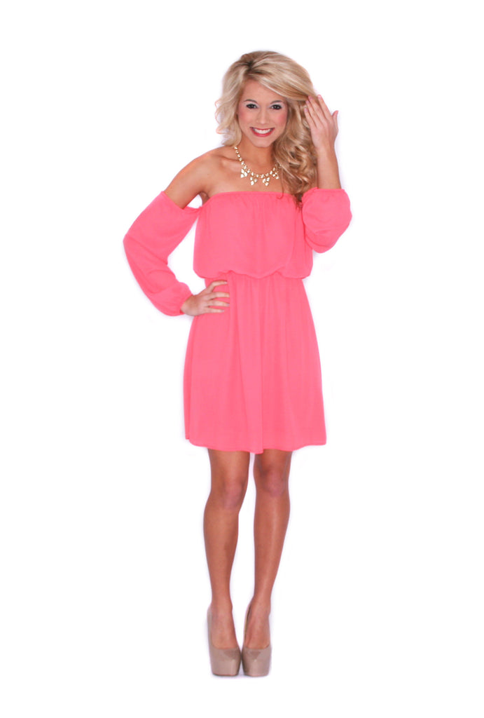Honeymoon Dress in Coral