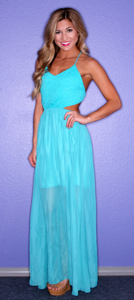 Honolulu Bliss Maxi in Teal