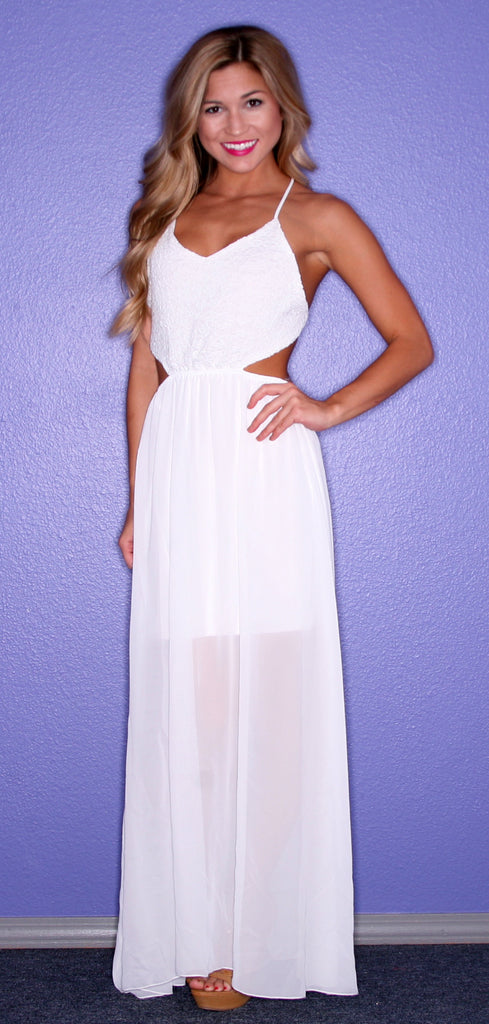 Honolulu Bliss Maxi in White