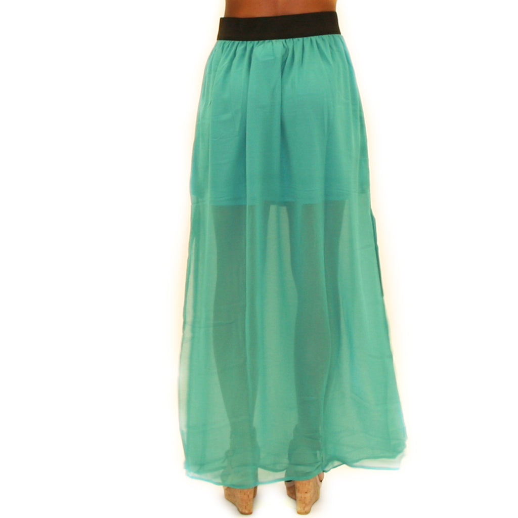 How Dashing Maxi Skirt in Jade
