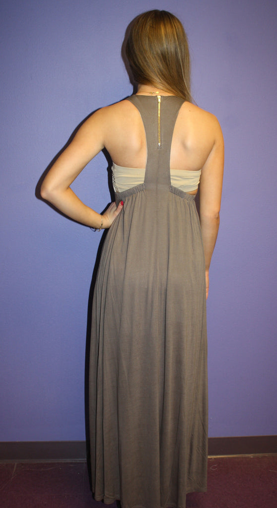 Romantic Maxi in Grey