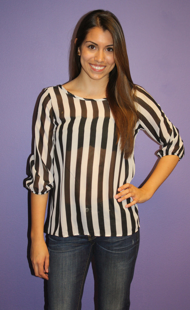 Bows & Kisses Stripe in Black
