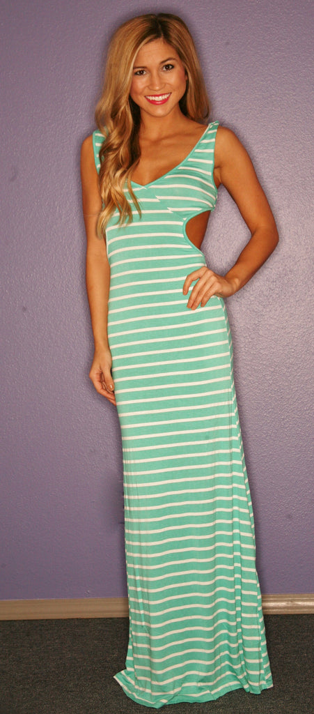 Divine Stripe Maxi in Mint
