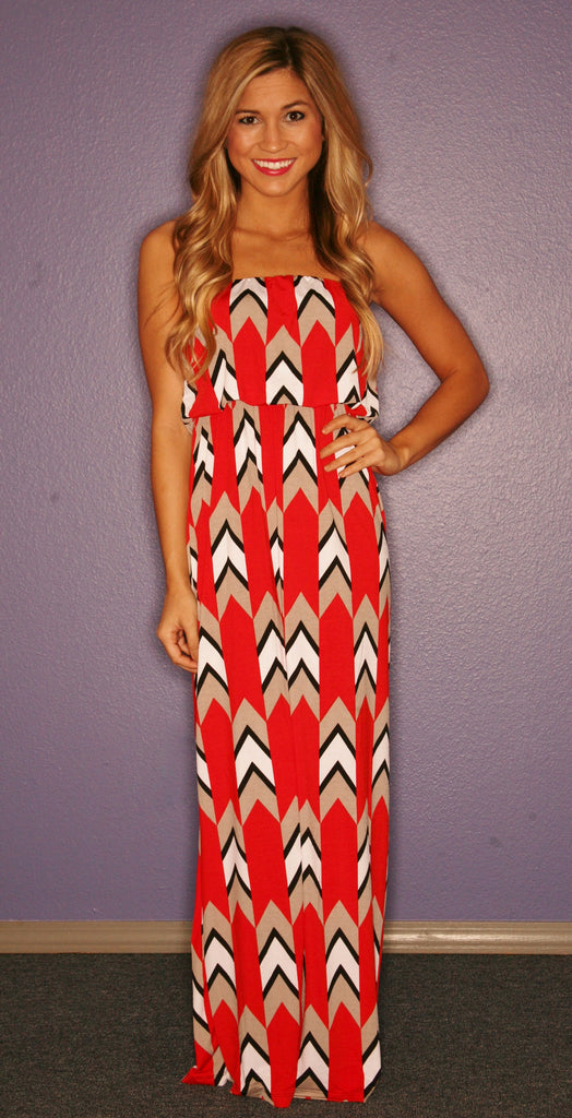 Palm Beach Maxi in Red