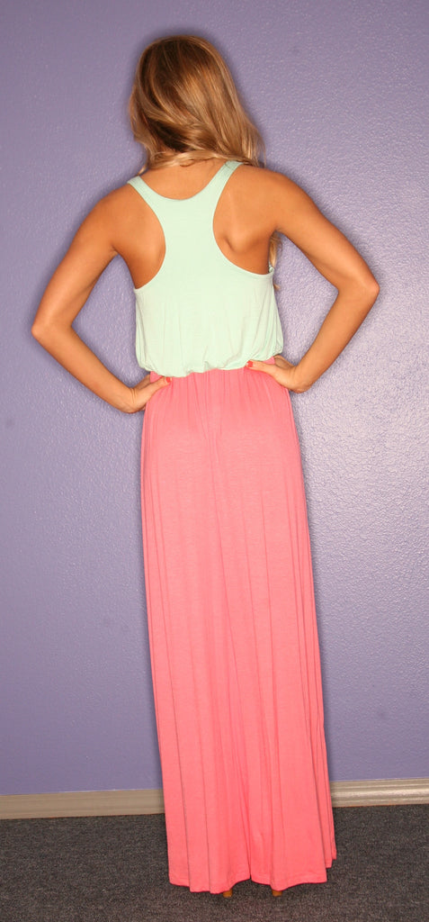 Beachy Keen Maxi in Coral