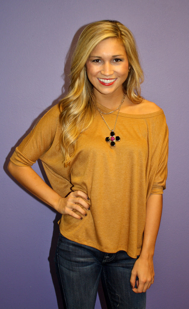 Fall Breeze Tee Caramel