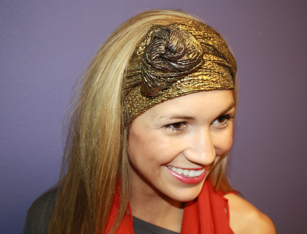 Glam Flexible Headband Gold