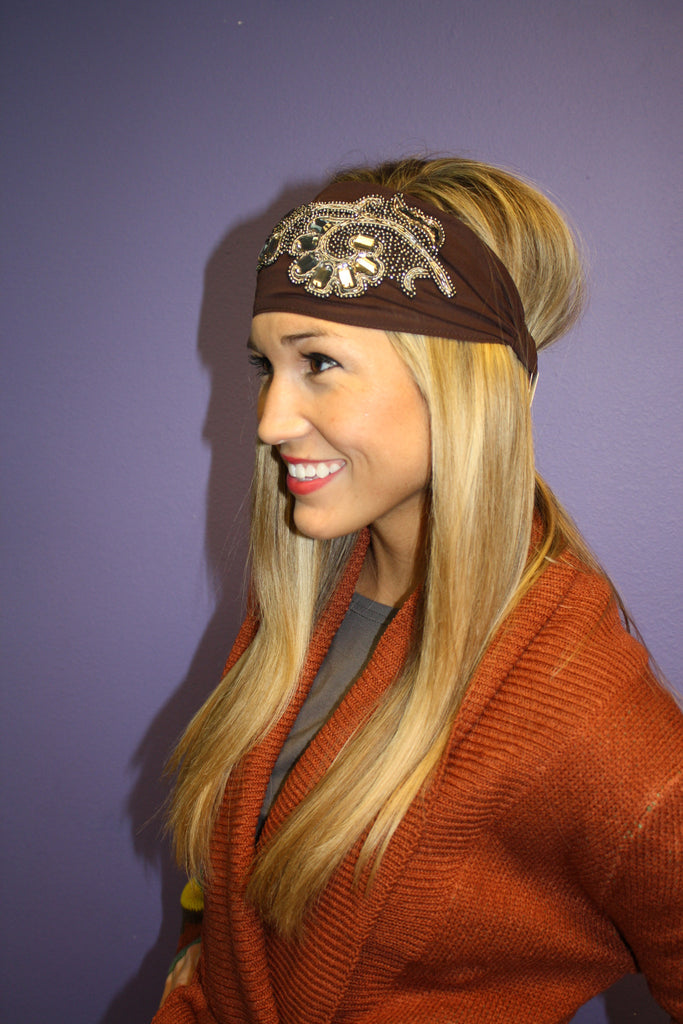 Jeweled Fabric Headband
