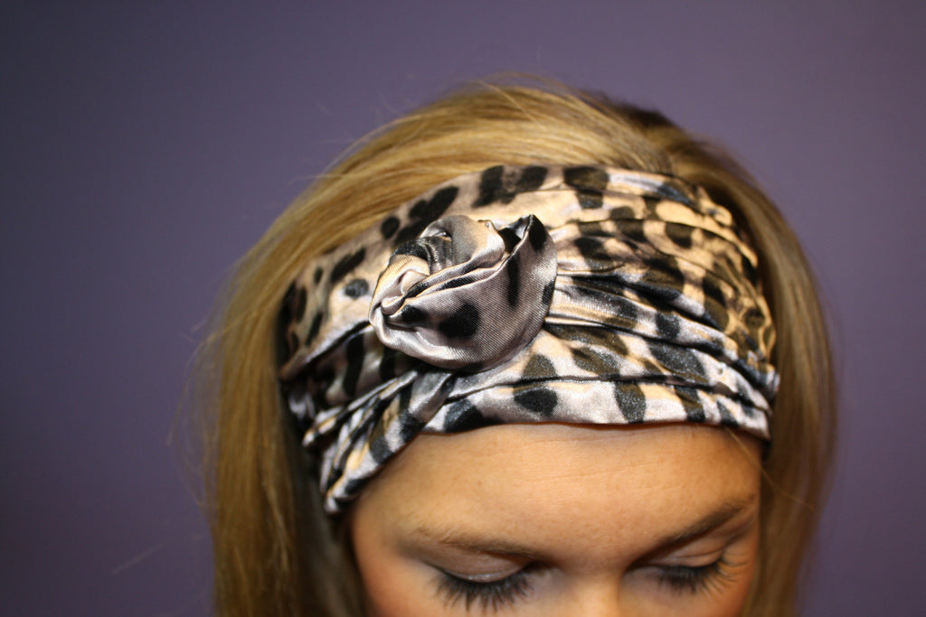 Glam Flexible Headband Leopard