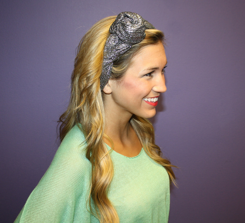 Glam Flexible Headband Silver
