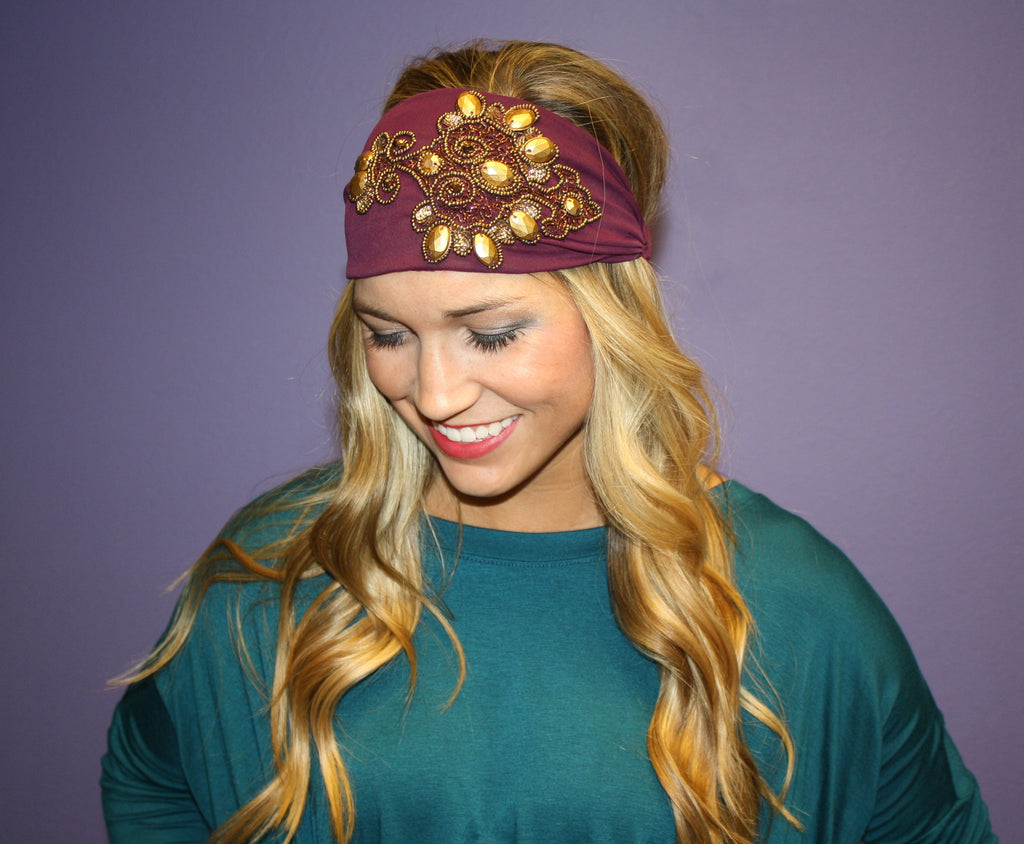 Jeweled Headband Purple