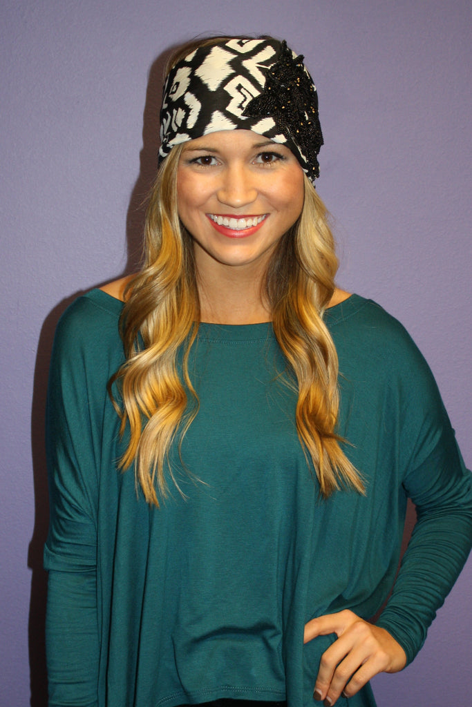 Boho Jeweled Headwrap
