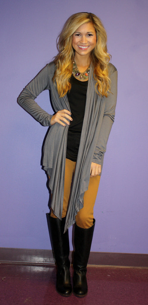Impress Cardi Dark Grey