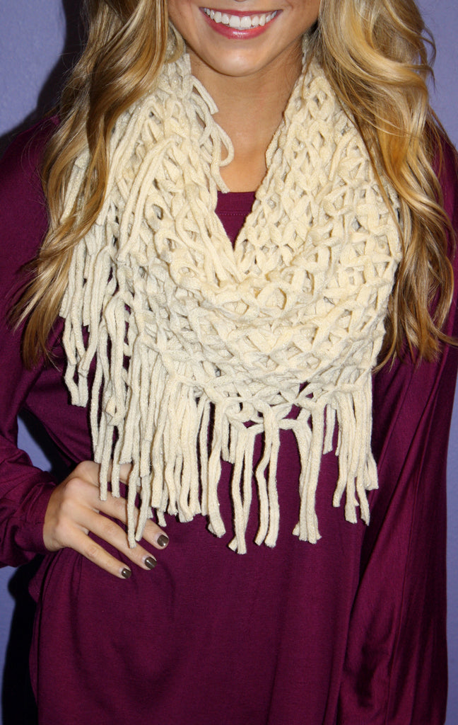 Infinity Knitted Scarf
