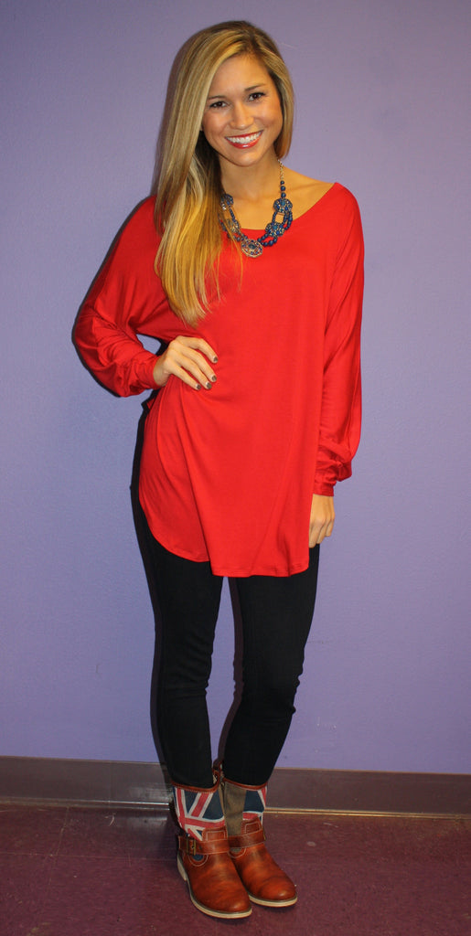Impress Raglan Red