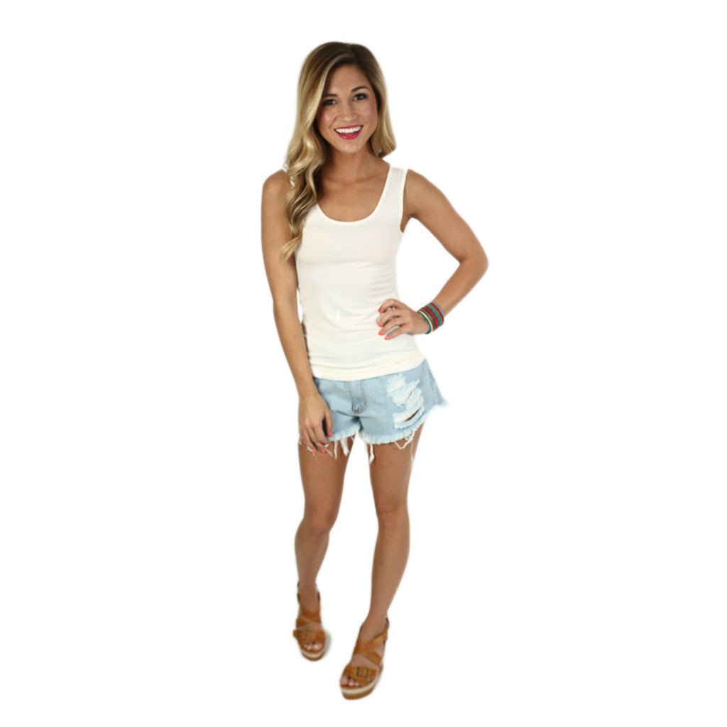 Impress Basic Tank in Ivory