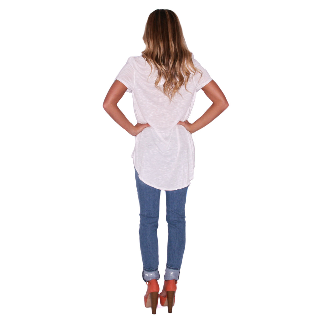 Dress To Impress Tee in Ivory