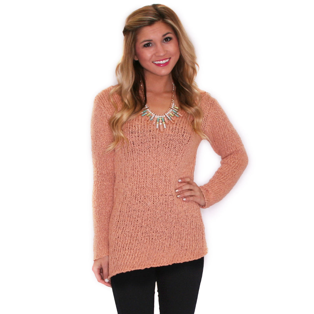 Inner Bliss Sweater Peach